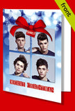 UNION J Autograph Signed Christmas Card Print INCLUDES ENVELOPE A5 Size