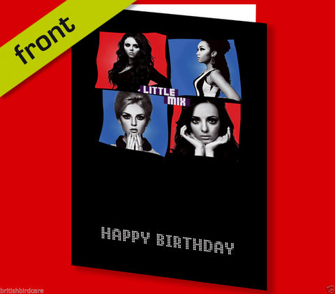 LITTLE MIX Autograph BIRTHDAY Card Reproduction Including Envelope 210x148mm