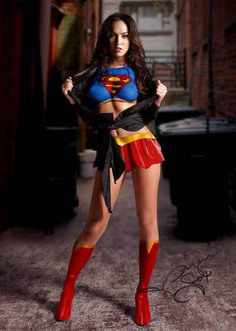 MEGAN FOX Super Girl SIGNED AUTOGRAPH LARGE POSTER A2 594 x 420mm