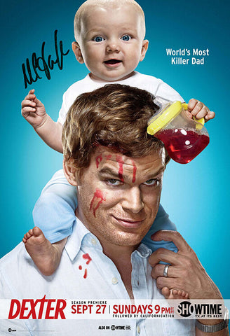 DEXTER SIGNED AUTOGRAPH QUALITY MOVIE POSTER A2 594 x 420mm By Michael C. Hall