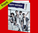 UNION J Autograph BIRTHDAY Card Reproduction Including Envelope A5 210x148mm