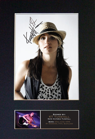 KT TUNSTALL Mounted Signed Photo Reproduction Autograph Print A4 356