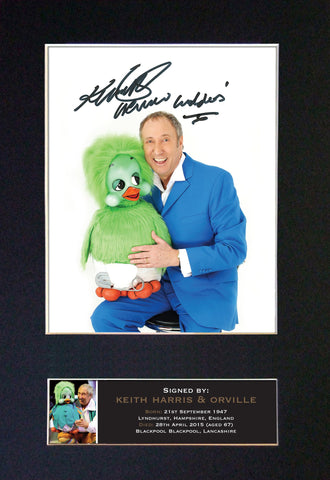 KEITH HARRIS & ORVILLE Quality Autograph Mounted Signed Photo Re-Print A4 737