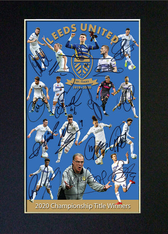 #852 LEEDS UNITED 2020 Signed Reproduction Autograph Mounted Print