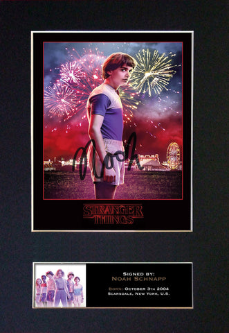 STRANGER THINGS Noah Schnapp Autograph Mounted Signed Photo RePrint #834