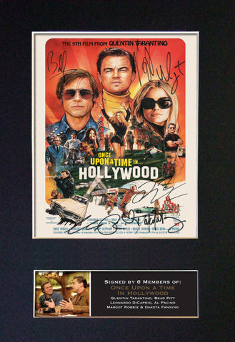 ONCE UPON A TIME IN HOLLYWOOD Autograph Mounted Signed Photo RePrint Poster 822