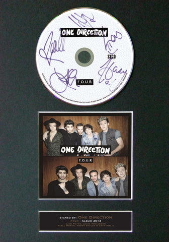 ONE DIRECTION FOUR Signed Album COVER With Reproduction Cd Print A4 Autograph 63