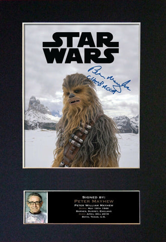 Peter Mayhew Gift Signed A4 Printed Autograph Star Wars Gifts Chewbacca 839