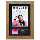 POST MALONE Photo Autograph Mounted Repro Signed HIGH QUALITY Framed Print 817