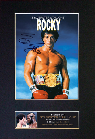 Rocky Signed Autograph Quality Mounted Photo Repro A4 Print 104
