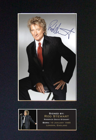 ROD STEWART Mounted Signed Photo Reproduction Autograph Print A4 60