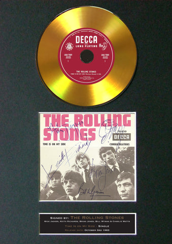 #148 Rolling Stones - Time is on my Side GOLD DISC Album Signed Autograph Mounted Repro