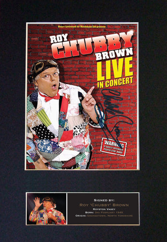 ROY CHUBBY BROWN Signed Autograph Mounted Photo Repro A4 Print 478