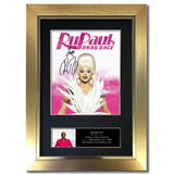 RuPaul Drag Queen Signed Mounted Quality Printed Photo A4 Autograph #845