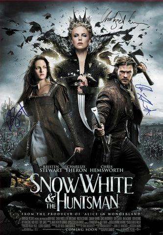SNOW WHITE and the HUNTSMAN 3 CAST  AUTOGRAPHED MOVIE POSTER PRINT A3 or A2 Size