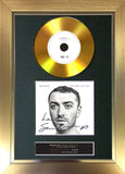 #157 Sam Smith - The Thrill of it All GOLD DISC Album Signed Autograph Mounted Repro