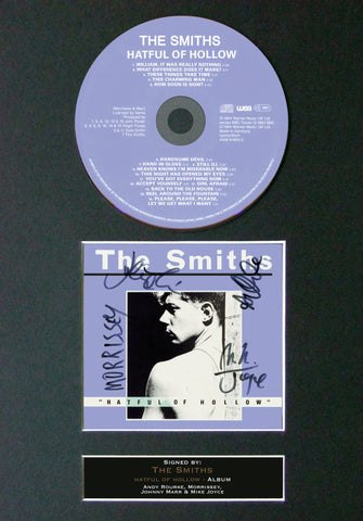 THE SMITHS Hatful of Hollow RARE ALBUM Signed Cd MOUNTED Autograph Print 76