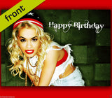 RITA ORA Autograph BIRTHDAY Card Reproduction Including Envelope A5 210x148mm
