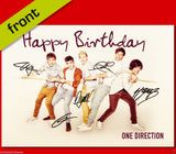 ONE DIRECTION Autograph BIRTHDAY Card Reproduction Including Envelope 210x148mm
