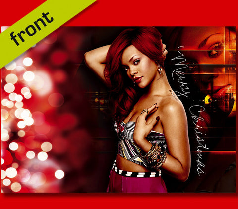 RIHANNA Autograph Signed Christmas Card Print INCLUDES ENVELOPE A5 Size