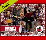 (No1) BIG BANG THEORY Autograph Christmas Card Reproduction signed by full cast