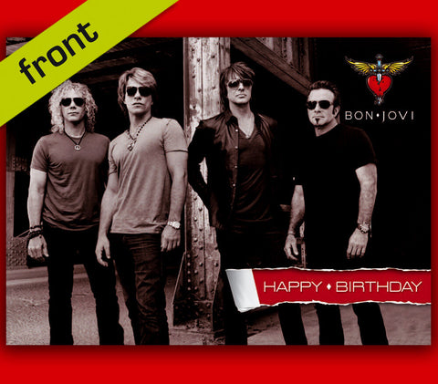 BON JOVI Autograph BIRTHDAY CARD Reproduction Including Envelope A5 Size