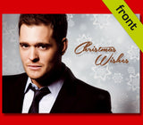 MICHAEL BUBLE Autograph Signed Christmas Card Reproduction A5 Inc Envelope