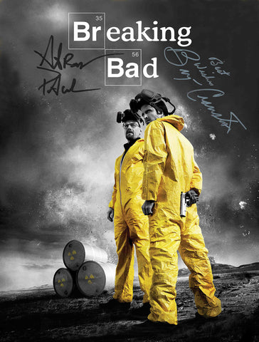 BREAKING BAD SIGNED AUTOGRAPH MOVIE POSTER A2 594 x 420mm (Very Rare)