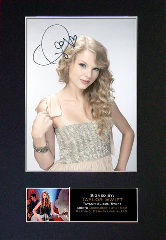 Taylor Swift Signed Autograph Quality Mounted Photo Repro A4 Print 258