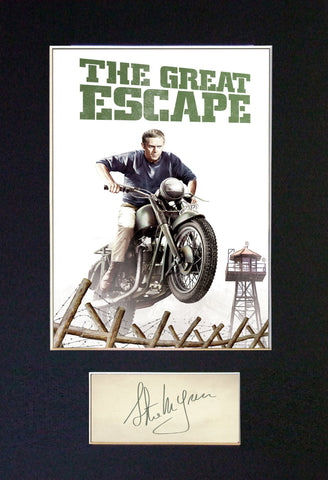 GREAT ESCAPE Steve McQueen Autograph Mounted Signed Photo Repro Print A4 703