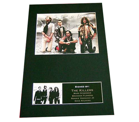 THE KILLERS Signed Autograph Mounted Photo Repro A4 Print 198