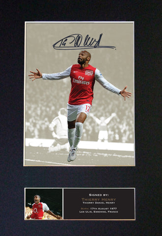 THIERRY HENRY Signed Autograph Mounted Photo Repro A4 Print 462