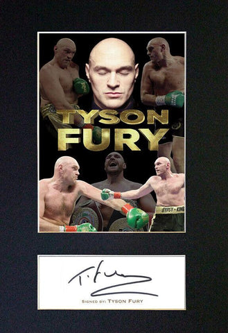 Tyson Fury Signed Pre Printed Autograph Quality Photo Gift For a Boxing Fan #846