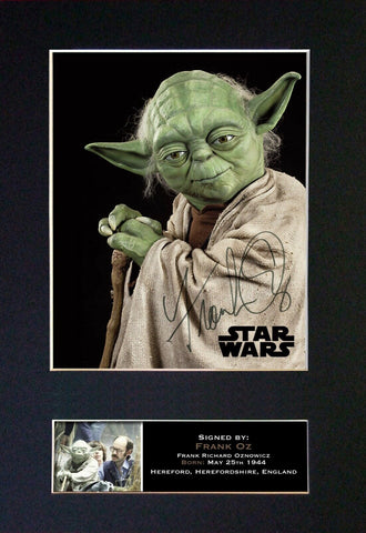 YODA Frank Oz Gift Signed A4 Printed Autograph Star Wars Gifts Photo Print 841