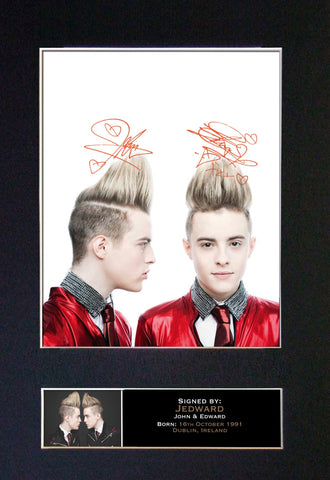 JEDWARD Mounted Signed Photo Reproduction Autograph Print A4 210