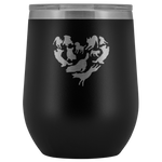 Heart Filled with Dogs 12oz Double Walled Stainless Steel Tumbler - Powder Coated and Laser Etched- Mother's Day Gift Idea For Dog Lovers