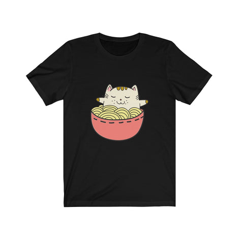 Anime Cat Relaxing with His Ramen