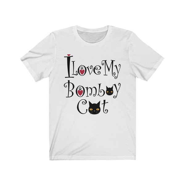 Cute I Love My Bombay Black Cat T-Shirt With A Heart