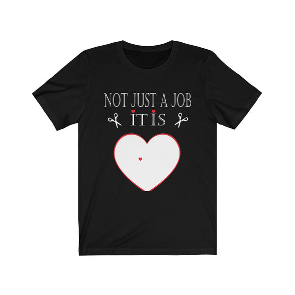 Funny Dog Groomer T-Shirt: No Just A Job With A Paw Print