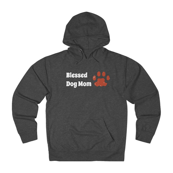 Womens Blessed Dog Mom With Paw Print: Great Thanksgiving hoodie