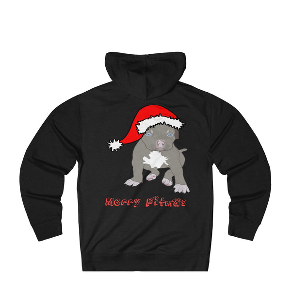 Merry Pitmas: Funny Christmas hoodie for Pit bull Lovers