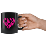 Heart With Dogs coffee mug: Funny Valentine's Day Gift For pet Lovers