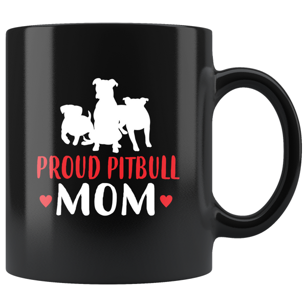 Proud Pit bull Mom Coffee Mug: Cute Gift For dog lovers