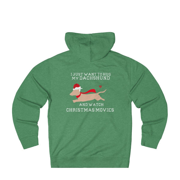I Want To Hug My Dachshund: Funny Christmas hoodie for dog lovers