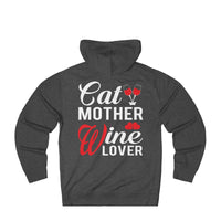 Womens Funny Cat Mother Wine Lover Hoodie