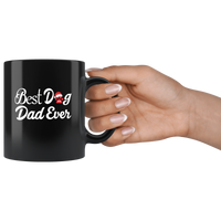 Best Dog Dad Ever Coffee Mug With Paw & Christmas Hat