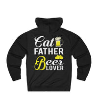 Mens Funny Cat Father Beer Lover Hoodie
