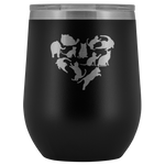 Heart with Cats 12oz Double Walled Stainless Steel Tumbler - Powder Coated and Laser Etched- Mother's Day Gift Idea For Cat Lovers