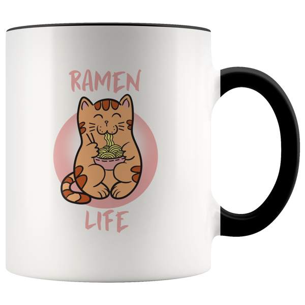 """Kawaii""Japanese Cat & Ramen Life coffee mug: cute gift for anime Lovers"