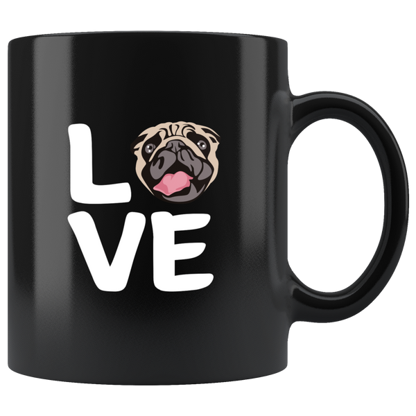 Love With Pug Face: Funny Mug For Dog Lovers
